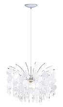 Eglo 200301A - 1x150W Chandelier w/ Chrome Finish & Glitter Teflon Glass & Crystals