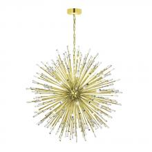 Eglo 31464A - 50x10W Pendant w/ Gold Plated Finish & Clear Crystal Spheres