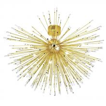 Eglo 31515A - 22x10W Ceiling Light w/ Gold Plated Finish & Clear Crystal Spheres
