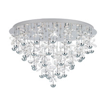 Eglo 39246A - 43x2.1W LED Ceiling Light w/ Chrome Finish & Clear Crystals
