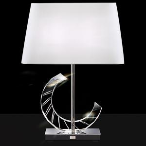 Boutique Lamps 2 Light 110V Table Lamps in Stainless with Clear Optic Crystal and Shade Rectangle Bl