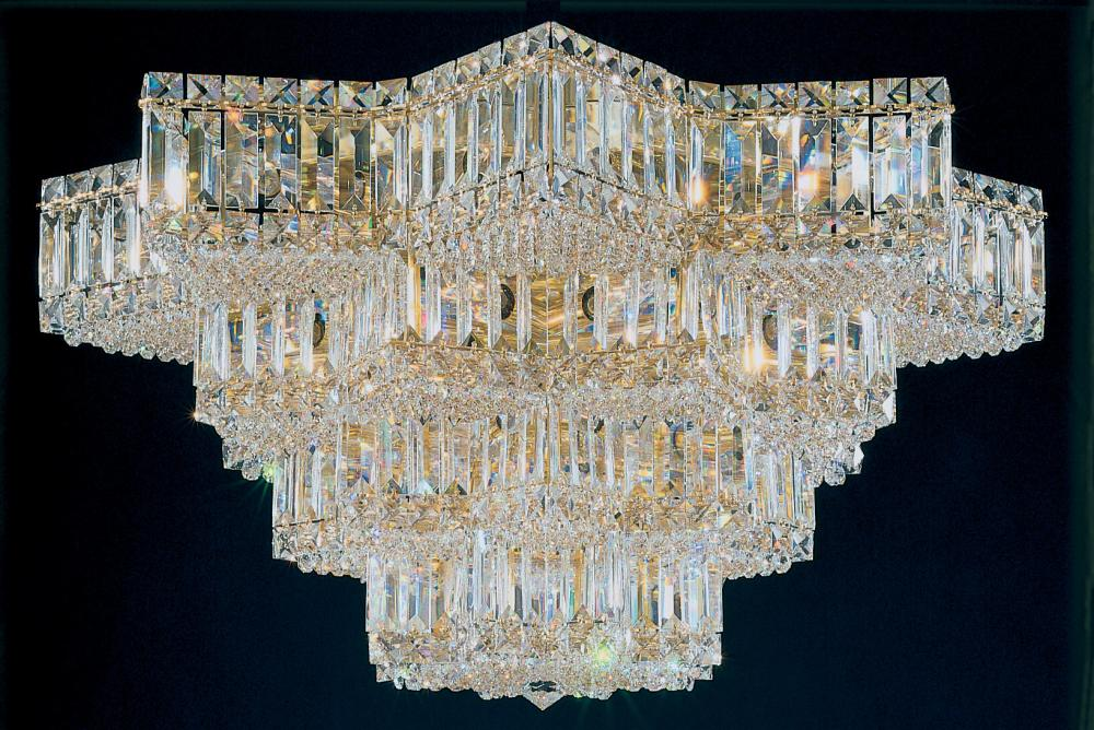 Equinoxe 29 Light 110V Close to Ceiling in Silver with Clear Gemcut Crystal
