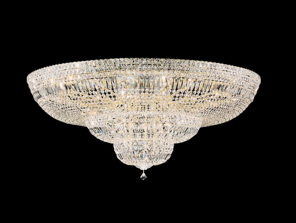 Petit Crystal Deluxe 36 Light 110V Close to Ceiling in Silver with Clear Spectra Crystal
