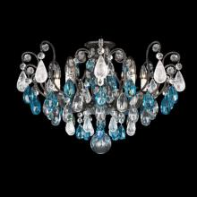 Schonbek 3585-23CL - Renaissance Rock Crystal 8 Light 110V Close to Ceiling in Etruscan Gold with Clear Rock Crystal