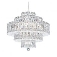 Schonbek 6673GS - Plaza 22 Light 110V Pendant in Stainless Steel with Golden Shadow Crystals From Swarovski