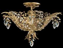 Schonbek AM5206N-22S - Amytis 3 Light 110V Close to Ceiling in Heirloom Gold with Clear Crystals From Swarovski