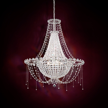Schonbek CM8334N-401A - Chrysalita 8 Light 110V Chandelier in Stainless Steel with Crystal Spectra Crystal