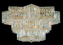 Schonbek 2733-40 - Equinoxe 13 Light 110V Close to Ceiling in Silver with Clear Gemcut Crystal