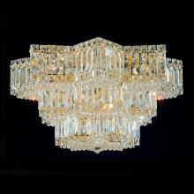 Schonbek 2733-211 - Equinoxe 13 Light 110V Close to Ceiling in Aurelia with Clear Gemcut Crystal