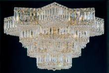 Schonbek 2734-40 - Equinoxe 29 Light 110V Close to Ceiling in Silver with Clear Gemcut Crystal