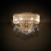 Schonbek FE7266N-23H2 - Filigrae 6 Light 110V Close to Ceiling in Etruscan Gold with Clear Heritage Crystal and Shade Hardba