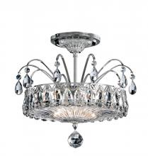 Schonbek FL7767N-40H - Fontana Luce 2 Light 110V Close to Ceiling in Silver with Clear Heritage Crystal