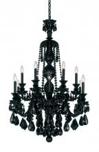 Schonbek 5708BK - Hamilton 12 Light 110V Chandelier in Jet Black with Jet Black Heritage Crystal