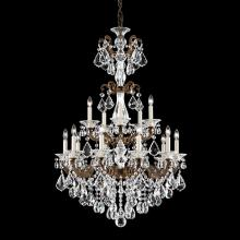 Schonbek 5010-86A - La Scala 15 Light 110V Chandelier in Midnight Gild with Clear Spectra Crystal