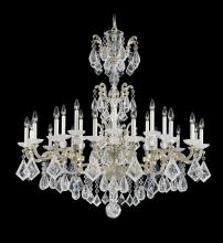 Schonbek 5413-22 - La Scala Rock Crystal 24 Light 110V Chandelier in Heirloom Gold with Clear Rock Crystal