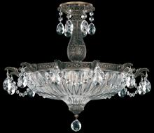 Schonbek 5650-48O - Milano 4 Light 110V Close to Ceiling in Antique Silver with Clear Optic Crystal
