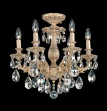 Schonbek 5656-83O - Milano 6 Light 110V Close to Ceiling in Florentine Bronze with Clear Optic Crystal