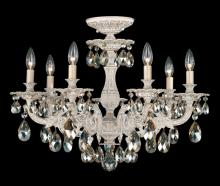 Schonbek 5657-80O - Milano 7 Light 110V Close to Ceiling in Roman Silver with Clear Optic Crystal