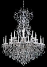 Schonbek 3662-49S - New Orleans 24 Light 110V Chandelier in Black Pearl with Clear Crystals From Swarovski