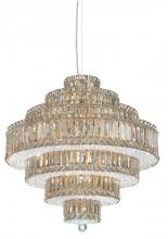Schonbek 6675A - Plaza 25 Light 110V Pendant in Stainless Steel with Clear Spectra Crystal