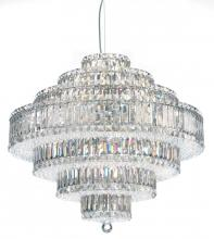 Schonbek 6677A - Plaza 31 Light 110V Pendant in Stainless Steel with Clear Spectra Crystal