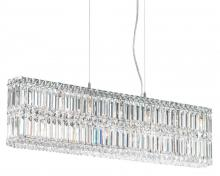 Schonbek 2265GS - Quantum 13 Light 110V Pendant in Stainless Steel with Golden Shadow Crystals From Swarovski