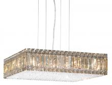 Schonbek 2272GS - Quantum 16 Light 110V Pendant in Stainless Steel with Golden Shadow Crystals From Swarovski