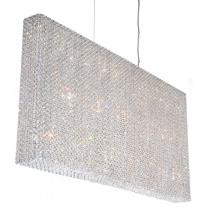Schonbek RE4824A - Refrax 23 Light 110V Pendant in Stainless Steel with Clear Spectra Crystal