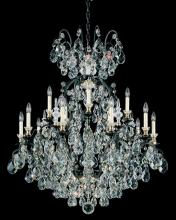 Schonbek 3773-51 - Renaissance 16 Light 110V Chandelier in Black with Clear Heritage Crystal