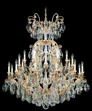Schonbek 3774-51 - Renaissance 25 Light 110V Chandelier in Black with Clear Heritage Crystal