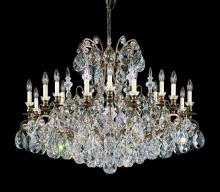 Schonbek 3792-51 - Renaissance 19 Light 110V Chandelier in Black with Clear Heritage Crystal