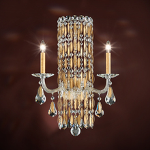 Schonbek RS8332N-22A - Sarella 2 Light 110V Wall Sconce in Heirloom Gold with Crystal Spectra Crystal