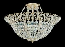 Schonbek 9843-22 - Tiara 9 Light 110V Close to Ceiling in Heirloom Gold with Clear Spectra Crystal