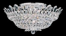 Schonbek 5868A - Trilliane 10 Light 110V Close to Ceiling in Silver with Clear Spectra Crystal