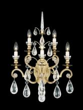 Schonbek 2463-22 - Versailles Rock Crystal 5 Light 110V Wall Sconce in Heirloom Gold with Clear Rock Crystal