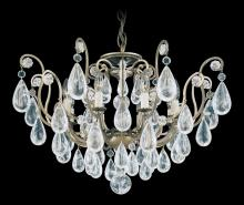 Schonbek 2485-22 - Versailles Rock Crystal 8 Light 110V Close to Ceiling in Heirloom Gold with Clear Rock Crystal