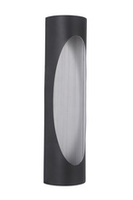 Craftmade Z3122-29-LED - 2 Light Matte Black/Brushed Aluminum LED Pocket Sconce