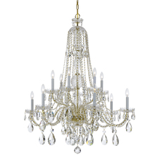 Crystorama 1112-PB-CL-MWP - Crystorama Traditional Crystal 12 Light Clear Crystal Brass Chandelier II