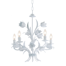 Crystorama 4815-WW - Crystorama Southport 5 Light Wet White Chandelier