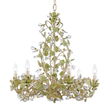 Crystorama 4846-CT - Crystorama Josie 6 Light Chandelier