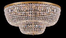 Crystorama 748-OB-CL-MWP - Crystorama 24 Light Clear Hand Cut Crystal Ceiling Mount