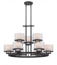 Designers Fountain 86189-BBR - Fusion 9 Light Chandelier