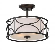 Designers Fountain 88611-ORB - Avara 2 Light Semi-Flush