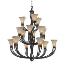 Golden 1850-15L RT - 3 Tier - 15 Light Chandelier