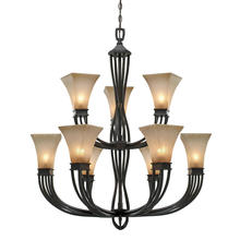 Golden 1850-9 RT - 2 Tier - 9 Light Chandelier