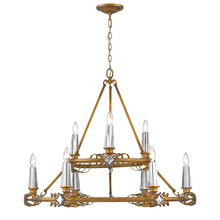 Golden 5717-9 RGD - 2 Tier - 9 Light Chandelier