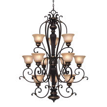 Golden 6029-363 EB - 3 Tier - 12 Light Chandelier