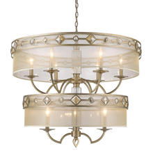 Golden 6390-9 WG - 2 Tier - 9 Light Chandelier