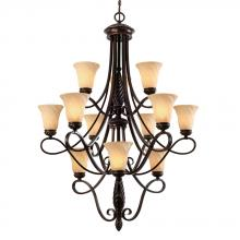 Golden 8106-363 CDB - 3 Tier - 12 Light Chandelier