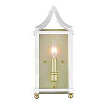 Golden 8401-WSC SB-WH - Wall Sconce